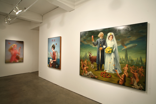 Alex  Gross -  <strong>The Main Gallery</strong> (<strong style = 'color:#635a27'></strong>)<bR /> Ice Cream Cone (Despair) and The Last Judgement