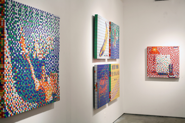 Invader  &nbsp -  <strong>Side view of the Rubik Masterpieces</strong> (<strong style = 'color:#635a27'></strong>)<bR />