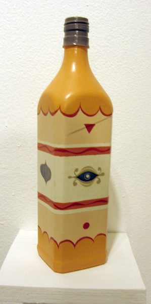 Matt  Haber -  <strong>Untitled 2</strong> (<strong style = 'color:#635a27'></strong>)<bR /> Acrylic on Bottle,   11 x 2 1/2 x 2 1/2 inches