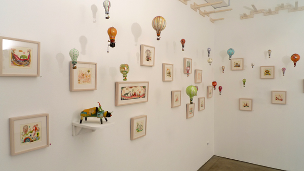 Souther  Salazar -  <strong>Balloon Sculptures and Works on paper!</strong> (<strong style = 'color:#635a27'></strong>)<bR />
