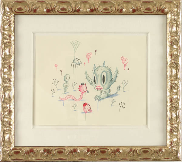 Gary  Baseman -  <strong>Itchichachacha</strong> (2005<strong style = 'color:#635a27'></strong>)<bR /> Mixed media on paper,   9 x 11 inches