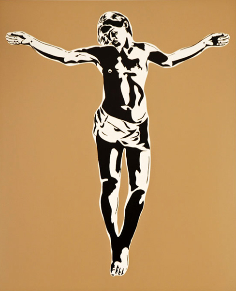 Blek le Rat  &nbsp -  <strong>Jesus - print</strong> (2008<strong style = 'color:#635a27'></strong>)<bR /> 3 coulour screenprint including varnish on Somerset Satin 300 gsm paper,   Edition of 75,   Image size: 27 1/2 x 22 1/2 inches,   Paper size: 34 3/4 x 29 inches