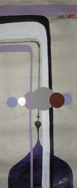 Kboco  &nbsp -  <strong>5</strong> (<strong style = 'color:#635a27'></strong>)<bR /> Mixed Media on Paper,   14 1/2 x 35 inches,   Unframed