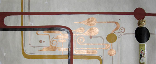 Kboco  &nbsp -  <strong>6</strong> (<strong style = 'color:#635a27'></strong>)<bR /> Mixed Media on Paper,   14 1/2 x 35 inches,   Unframed