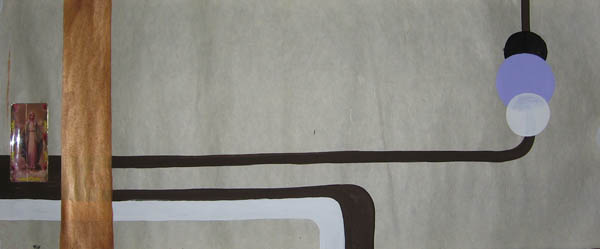 Kboco  &nbsp -  <strong>8</strong> (<strong style = 'color:#635a27'></strong>)<bR /> Mixed Media on Paper,   14 1/2 x 35 inches,   Unframed