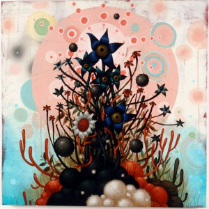Jeff  Soto -  <strong>La Luna</strong> (2006<strong style = 'color:#635a27'></strong>)<bR /> Acrylic on wood  30 x 30 inches