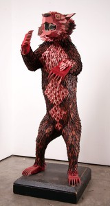 AJ  Fosik -  <strong>Bear Study Life Size</strong> (2006<strong style = 'color:#635a27'></strong>)<bR /> Mixed Media,   65 x 42 x 28 inches