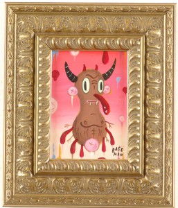 Gary  Baseman -  <strong>Mod Devil</strong> (2005<strong style = 'color:#635a27'></strong>)<bR /> Acrylic on Wood Panel,   7 x 5 inches