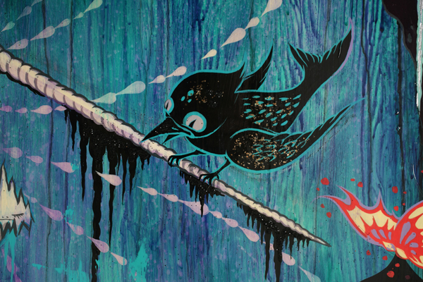 Camille Rose  Garcia -  <strong>Narwhal (DETAIL)</strong> (<strong style = 'color:#635a27'></strong>)<bR />