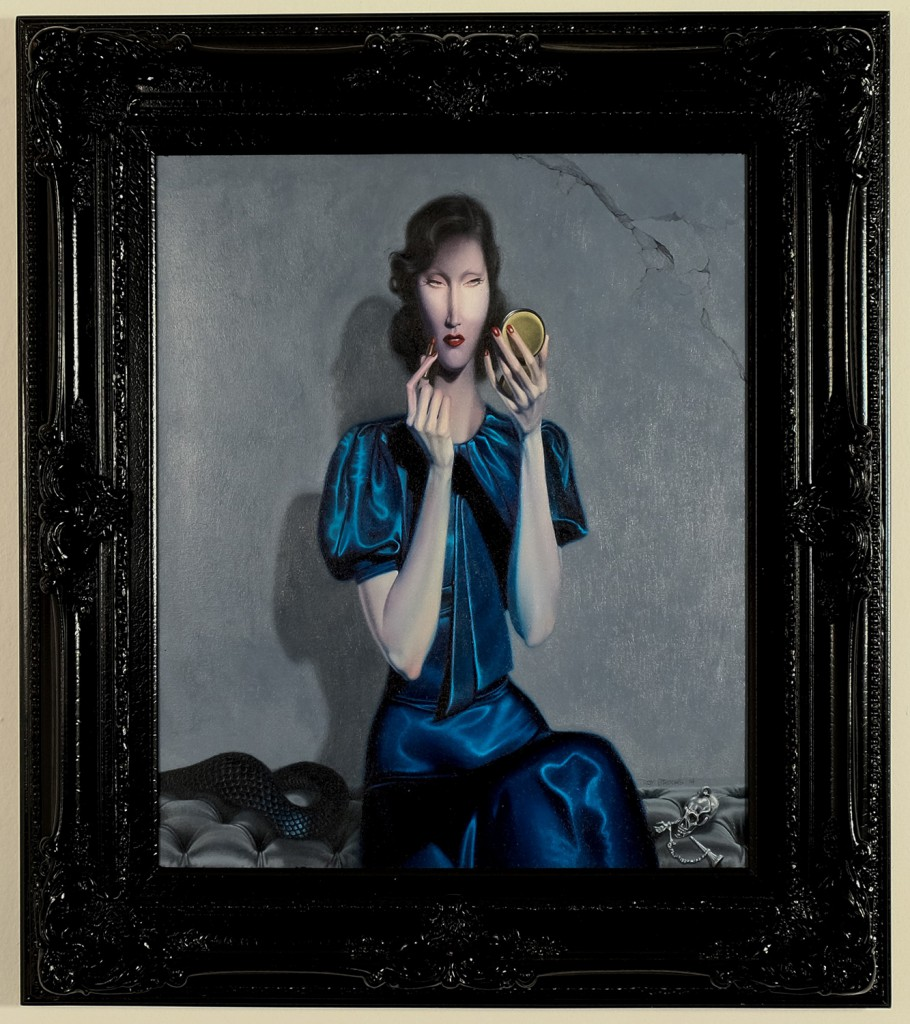 Troy  Brooks -  <strong>Hunters and Thieves</strong> (<strong style = 'color:#635a27'></strong>)<bR /> oil on canvas,   20 x 24 inches  (50.8 x 60.96 cm)