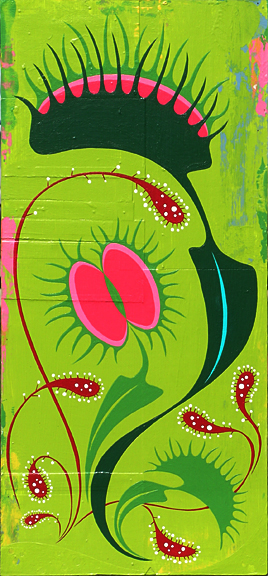 Plankton  &nbsp -  <strong>Love Bog</strong> (2005<strong style = 'color:#635a27'></strong>)<bR /> Mixed Media on Board