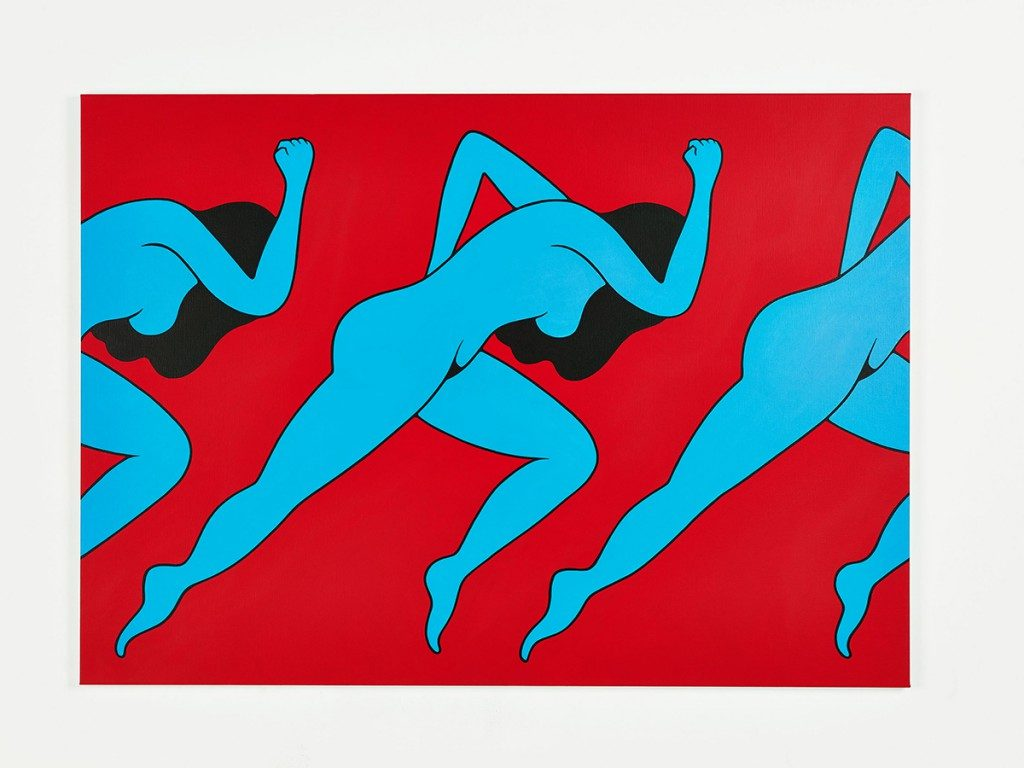 Parra &nbsp -  <strong>Lust</strong> (2014<strong style = 'color:#635a27'></strong>)<bR /> acrylic on canvas,   39.37 x 55.12 inches  (100 x 140 cm)