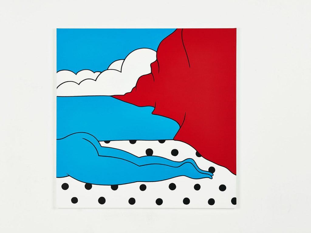 Parra &nbsp -  <strong>The Fall</strong> (2014<strong style = 'color:#635a27'></strong>)<bR /> acrylic on canvas,   39.37 x 39.37 inches  (100 x 100 cm)
