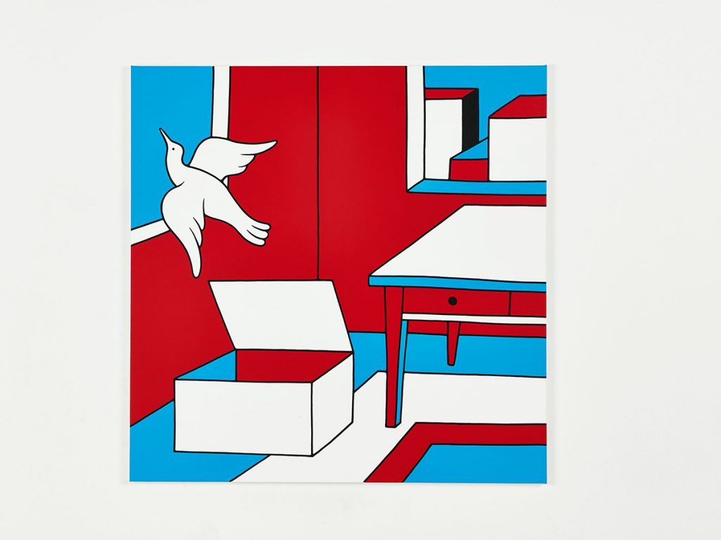 Parra &nbsp -  <strong>The New York Box</strong> (2014<strong style = 'color:#635a27'></strong>)<bR /> acrylic on canvas,   39.37 x 39.37 inches  (100 x 100 cm)