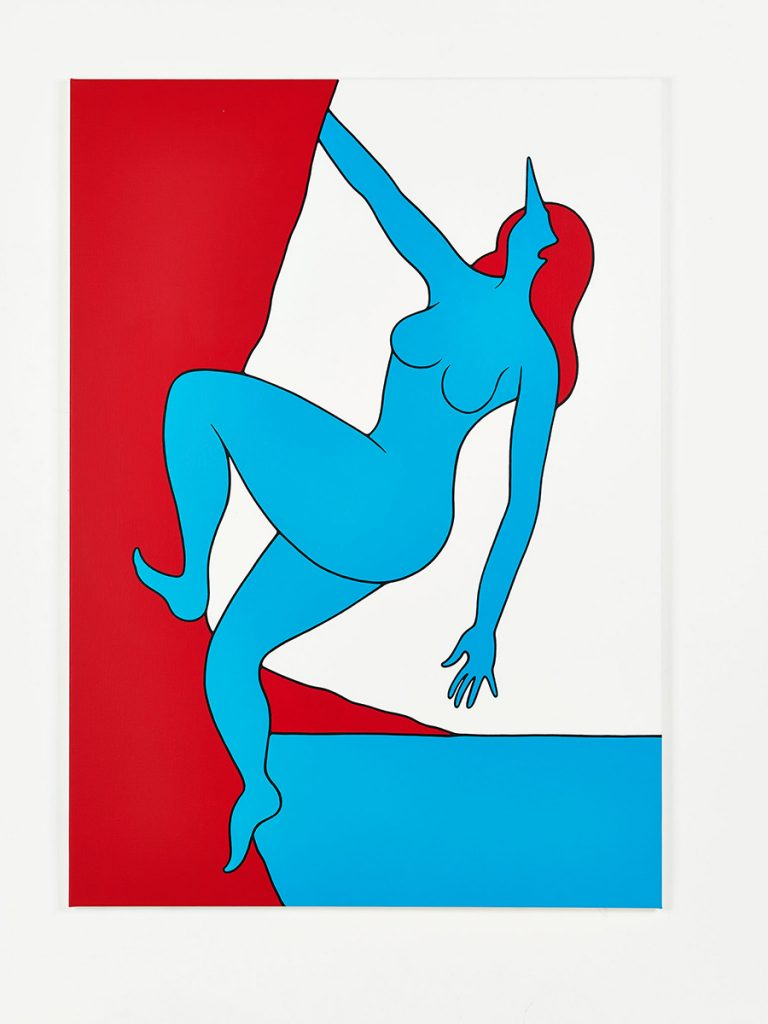 Parra &nbsp -  <strong>With God on Our Side</strong> (2014<strong style = 'color:#635a27'></strong>)<bR /> acrylic on canvas,   39.37 x 55.12 inches  (100 x 140 cm)