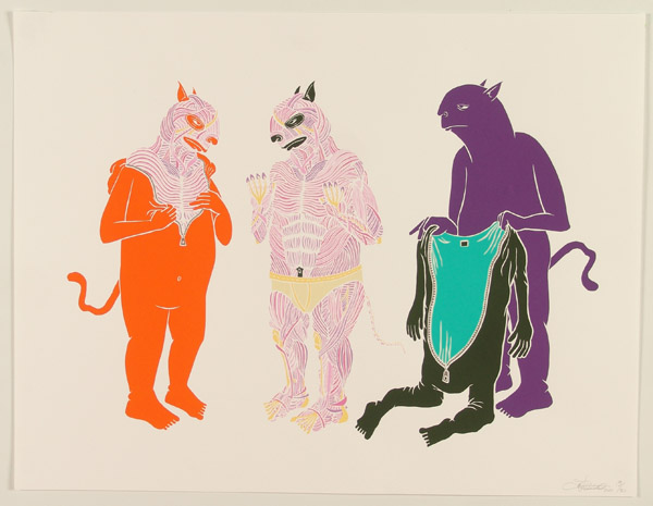 Ben  Woodward -  <strong>Shed Your Skin</strong> (<strong style = 'color:#635a27'></strong>)<bR /> Silkscreen on Paper S/N Edition of 50 -Contact Gallery for Availability-