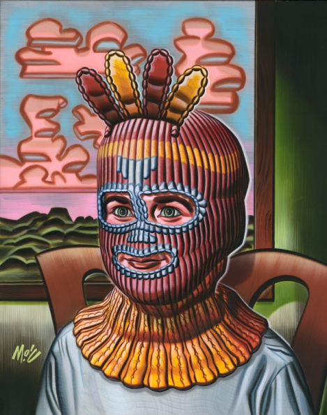 Mitch  O'Connell -  <strong>Love Shines On You #3</strong> (2004<strong style = 'color:#635a27'></strong>)<bR /> Frame Size: 17''x20''  Acrylic on Board.