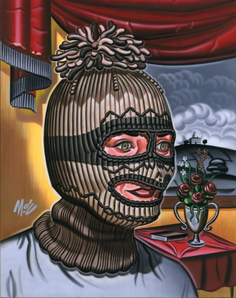 Mitch  O'Connell -  <strong>Love Shines On You #2</strong> (2004<strong style = 'color:#635a27'></strong>)<bR /> Frame Size:17''x20''  Acrylic on Board.