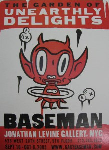 Gary  Baseman -  <strong>The Garden of Unearthly Delights Poster (small)</strong> (2005<strong style = 'color:#635a27'></strong>)<bR /> Letter press poster,   10 1/2 x 7 inches