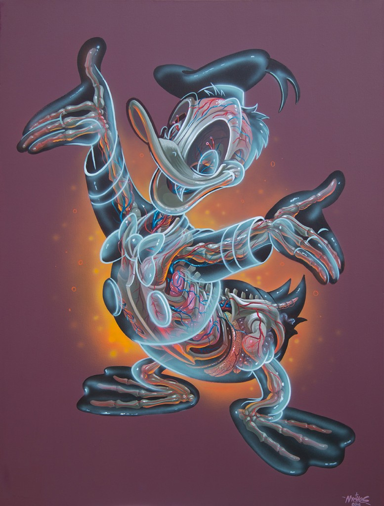 Nychos -  <strong>Translucent Donald</strong> (2016<strong style = 'color:#635a27'></strong>)<bR /> acrylic on canvas, 48 x 36 in. (121.9 x 91.4 cm)