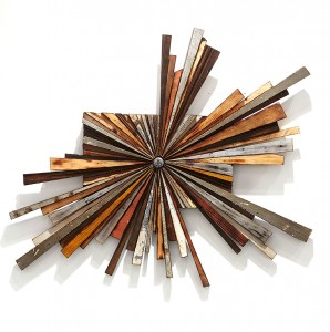 Roddy Wildeman -  <strong>Composite Memory Wild-Burst (Asbury Park NJ)</strong> (2015<strong style = 'color:#635a27'></strong>)<bR /> reclaimed debris on plywood, 27 x  34 inches $2,000