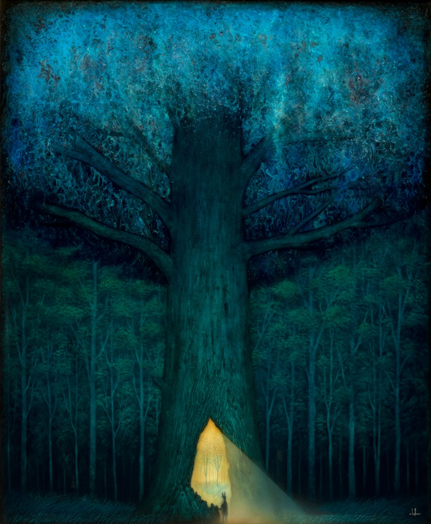 Andy Kehoe -  <strong>Beyond the Familiar</strong> (2016<strong style = 'color:#635a27'></strong>)<bR /> oil, acrylic and resin in cradled wood panel, 30 x 36 inches, (76.2 x 91.44 cm) $9,500