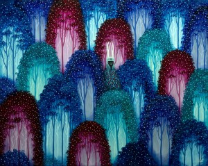 Andy Kehoe -  <strong>Subject to Wonder</strong> (2016<strong style = 'color:#635a27'></strong>)<bR /> oil and acrylic on wood panel, 30 x 24 inches, (76.2 x 60.96 cm) $5,000