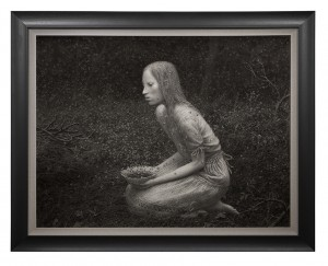 Aron Wiesenfeld -  <strong>Offering</strong> (2016<strong style = 'color:#635a27'></strong>)<bR /> charcoal on paper, 38 x 50 inches, (96.52 x 127 cm), framed: 48 x 60 inches, (121.92 x 152.4 cm) $10,000
