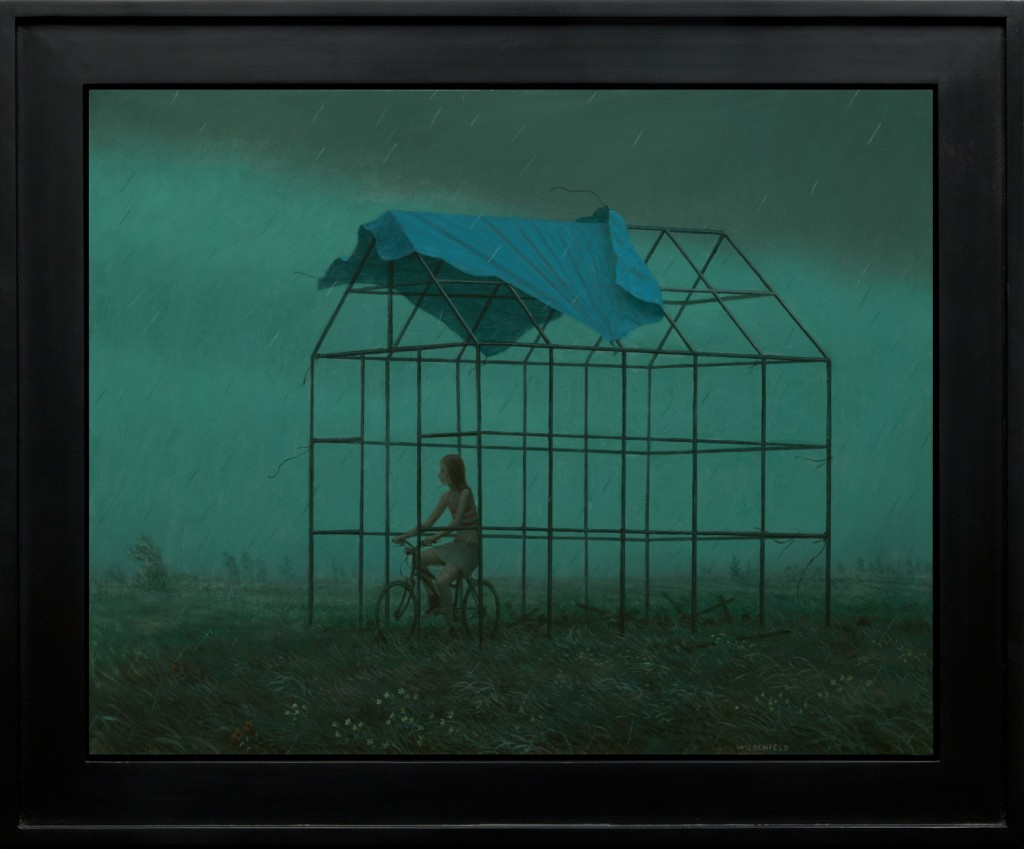 Aron Wiesenfeld -  <strong>The Off Season</strong> (2016<strong style = 'color:#635a27'></strong>)<bR /> oil on canvas, 26 x 33 inches, (66.04 x 83.82 cm), framed: 33 x 40 inches, (83.82 x 101.6 cm)
