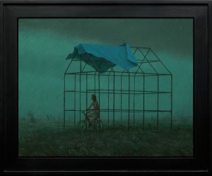 Aron Wiesenfeld -  <strong>The Off Season</strong> (2016<strong style = 'color:#635a27'></strong>)<bR /> oil on canvas, 26 x 33 inches, (66.04 x 83.82 cm), framed: 33 x 40 inches, (83.82 x 101.6 cm) $12,000