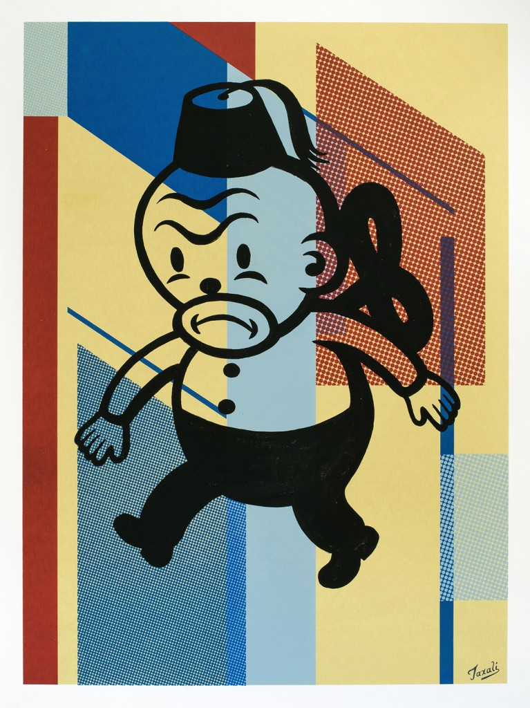 Gary Taxali -  <strong>24</strong> (2016<strong style = 'color:#635a27'></strong>)<bR /> hand painted multiple (HPM) acrylic on 4-color silkscreen,