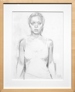 Glenn Barr -  <strong>Wrecked (study)</strong> (2016<strong style = 'color:#635a27'></strong>)<bR /> graphite on paper, 17 x 14 inches, (43.2 x 35.6 cm), framed: 19 5/8 x 16 1/4 inches. (49.8 x 41.3 cm) $700