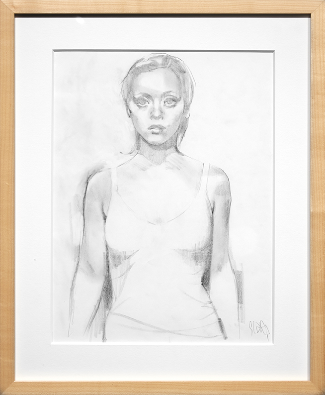 Glenn Barr -  <strong>Wrecked (study)</strong> (2016<strong style = 'color:#635a27'></strong>)<bR /> graphite on paper, 17 x 14 inches, (43.2 x 35.6 cm), framed: 19 5/8 x 16 1/4 inches. (49.8 x 41.3 cm)