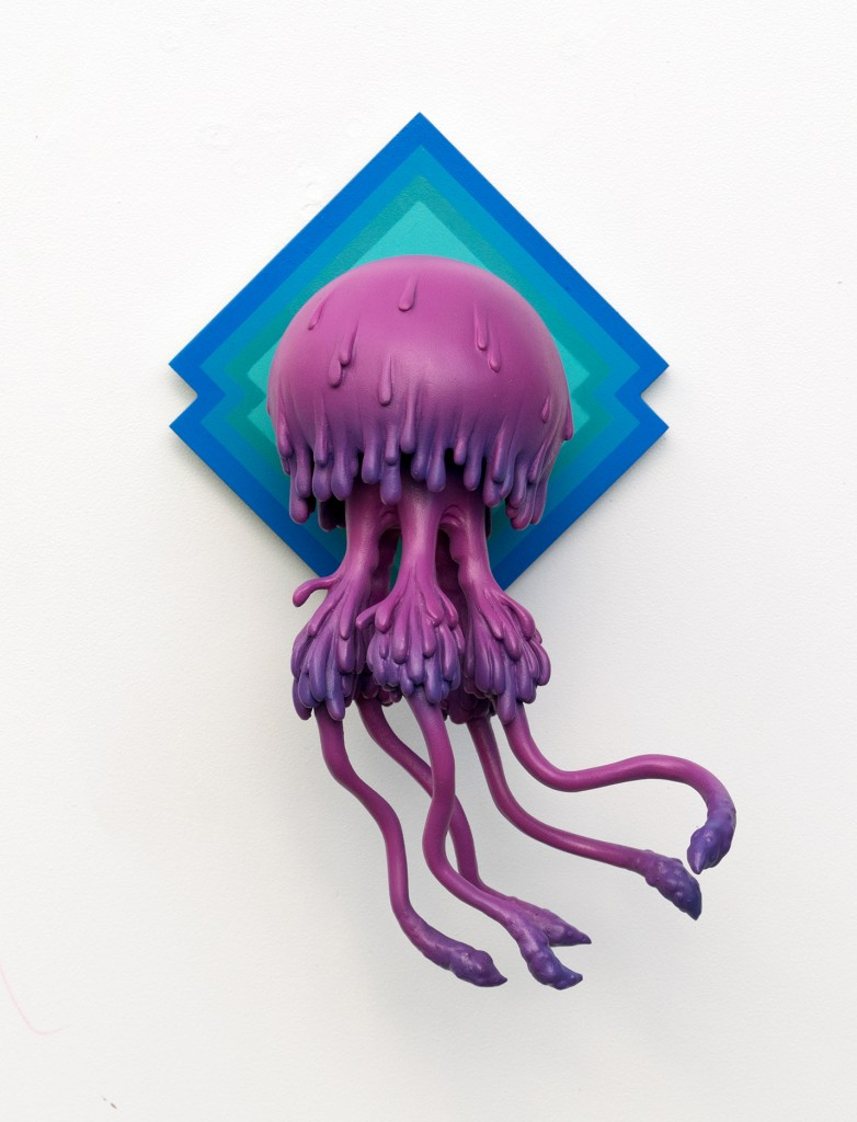 Troy Coulterman -  <strong>Floating Bell edition 2/7</strong> (2016<strong style = 'color:#635a27'></strong>)<bR /> painted resin, wood backing,