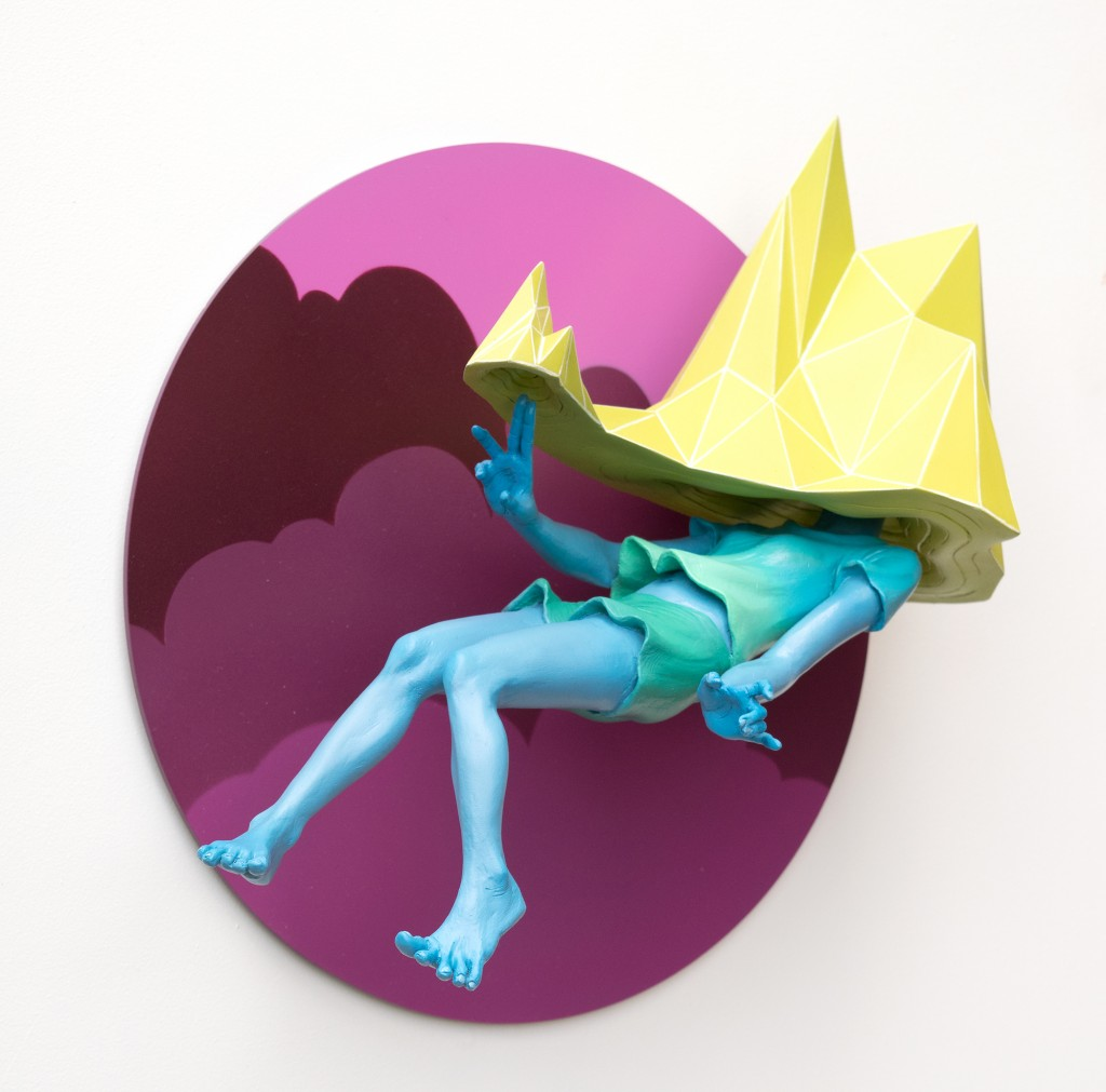 Troy Coulterman -  <strong>Laying New Ground edition 3/5 (side)</strong> (2016<strong style = 'color:#635a27'></strong>)<bR /> painted resin, acrylic backing,