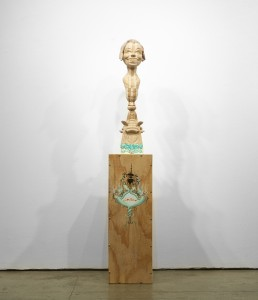 Gary Mellon -  <strong>#10</strong> (2015<strong style = 'color:#635a27'></strong>)<bR /> wood, acrylic paint,