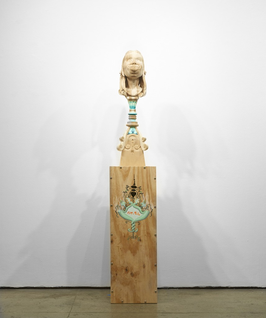 Gary Mellon -  <strong>#11</strong> (2015<strong style = 'color:#635a27'></strong>)<bR /> wood, acrylic paint,