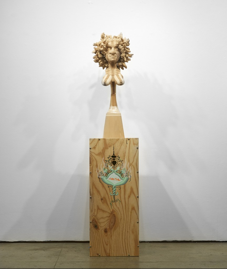 Gary Mellon -  <strong>#12</strong> (2015<strong style = 'color:#635a27'></strong>)<bR /> wood, acrylic paint,