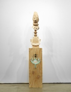 Gary Mellon -  <strong>#13</strong> (2015<strong style = 'color:#635a27'></strong>)<bR /> wood, acrylic paint,