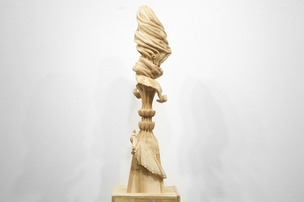 Gary Mellon -  <strong>#13 (side)</strong> (2015<strong style = 'color:#635a27'></strong>)<bR /> wood, acrylic paint,