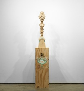 Gary Mellon -  <strong>#7</strong> (2015<strong style = 'color:#635a27'></strong>)<bR /> wood, acrylic paint,