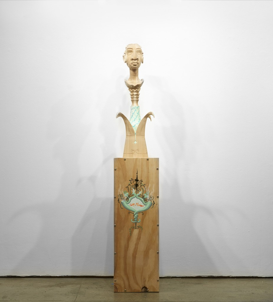 Gary Mellon -  <strong>#8</strong> (2015<strong style = 'color:#635a27'></strong>)<bR /> wood, acrylic paint,