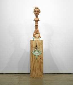 Gary Mellon -  <strong>#9</strong> (2015<strong style = 'color:#635a27'></strong>)<bR /> wood, acrylic paint,