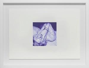 Juan Francisco Casas -  <strong>Hiding Vesalius</strong> (2016<strong style = 'color:#635a27'></strong>)<bR /> ballpen on paper, 5.51 x 5.51 inches, (14 x 14 cm), framed: 16 x 20.75 inches, (40.64 x 52.7 cm) $3,000