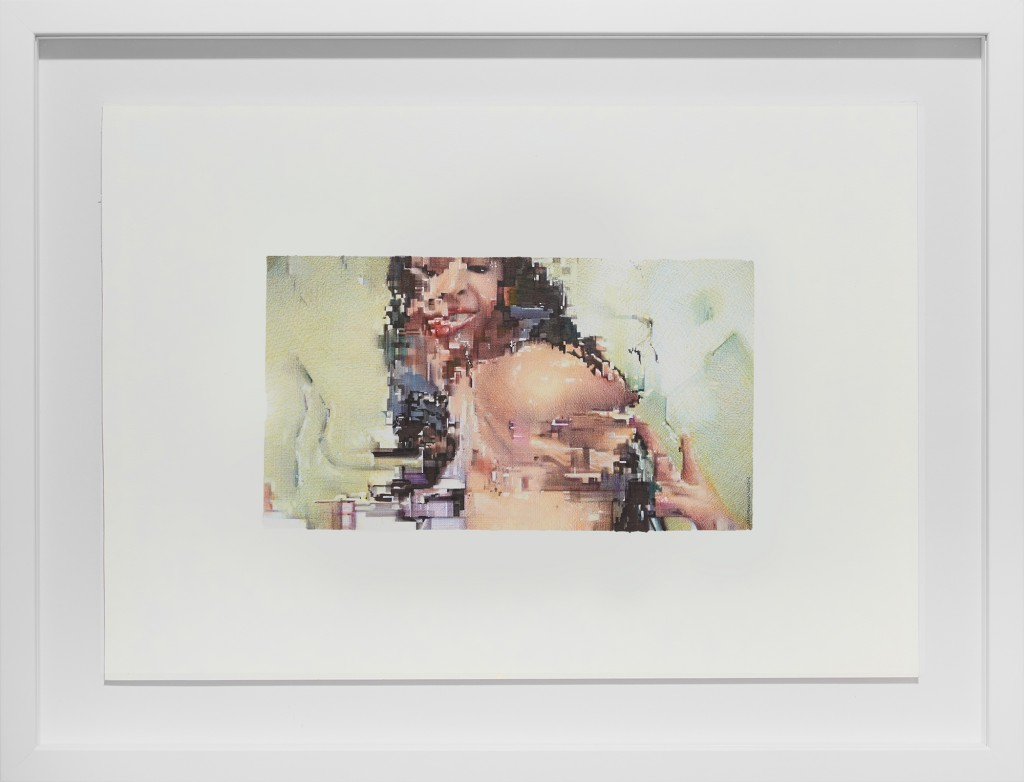 Juan Francisco Casas -  <strong>Life is a Dirty Glitch 3</strong> (2016<strong style = 'color:#635a27'></strong>)<bR /> ballpen and marker on paper, 5.51 x 9.84 inches, (14 x 25 cm), framed: 16 x 20.75 inches, (40.64 x 52.7 cm) $5,500