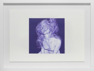Juan Francisco Casas -  <strong>What Lies Within Us 2</strong> (2016<strong style = 'color:#635a27'></strong>)<bR /> ballpen on paper,  7.87 x 7.87 inches, (20 x 20 cm), framed: 16 x 20.75 inches, (40.64 x 52.7 cm)