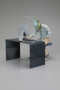 Alessandro Gallo -  <strong>Social Activist - Locust Swarm</strong> (2016<strong style = 'color:#635a27'></strong>)<bR /> stoneware, mixed media, 13 x 11 x 16 inches, (33.02 x 27.94 x 40.64 cm) $7,000