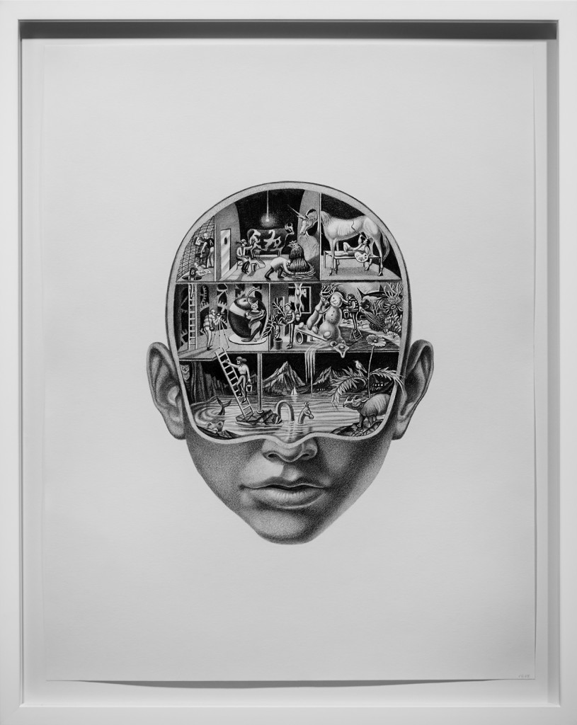 Armando Veve -  <strong>Your Conscious Unconscious</strong> (2016<strong style = 'color:#635a27'></strong>)<bR /> graphite on paper, 22 x 17 inches, (55.9 x 43.2 cm), framed: 25.1 x 20.1 inches, (63.7 x 51.1 cm)