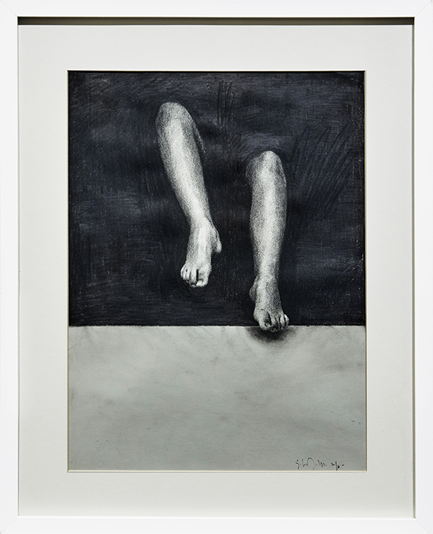 Eloy Morales -  <strong>Girl From The Darkness</strong> (2016<strong style = 'color:#635a27'></strong>)<bR /> pencil on paper, framed. 15.74 x 11.81 inches, (40 x 30 cm) $1,200