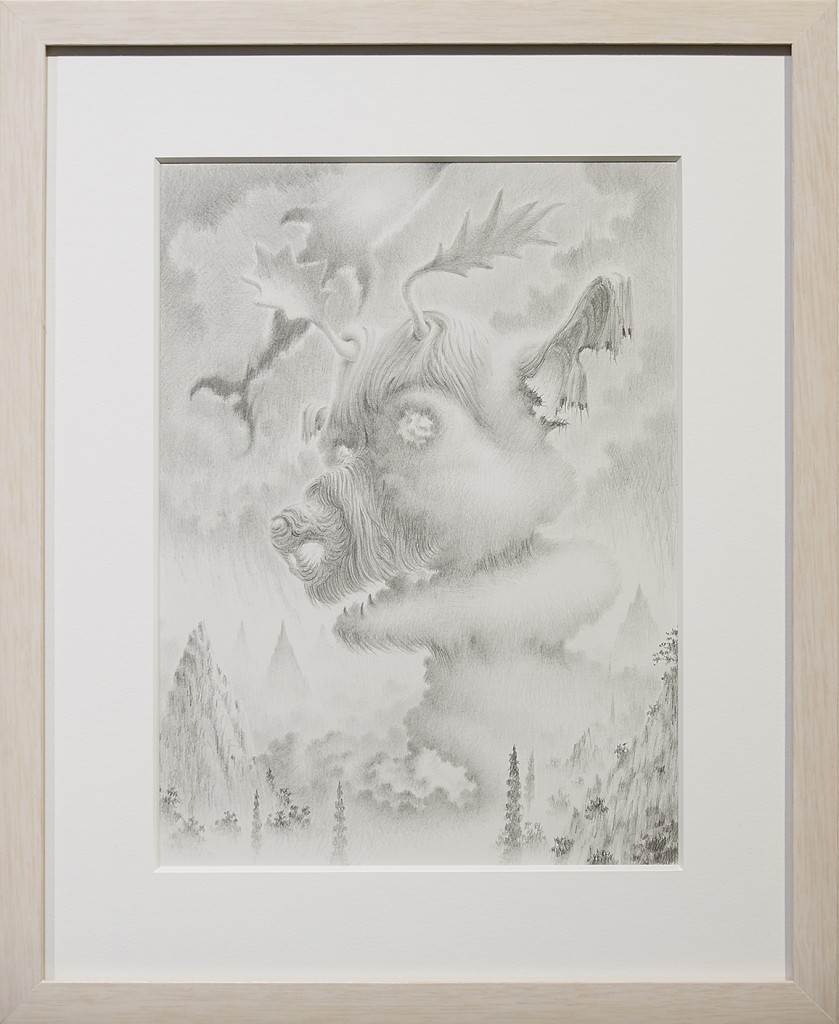 Fulvio di Piazza -  <strong>Alce</strong> (2016<strong style = 'color:#635a27'></strong>)<bR /> pencil on paper, 12 x 9 inches, (30.5 x 23 cm), framed: 16.5 x 13.5 inches, (41.9 x 34.3 cm)